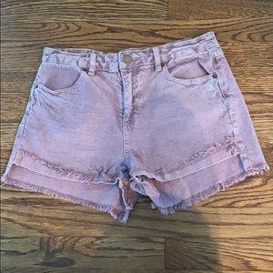 O'Neill Purple Denim Shorts Size 28
